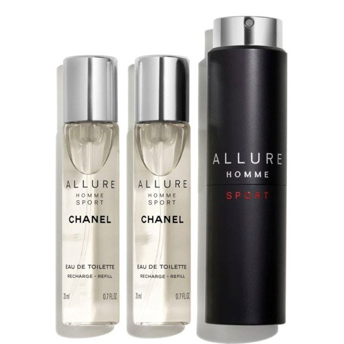 Chanel Allure Homme Sport woda toaletowa  3 x 20 ml - travel spray and two refills TESTER